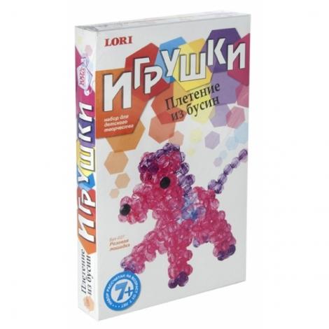 """бус-027 игрушки. плетение из бусин """"розовая лошадка"""""""