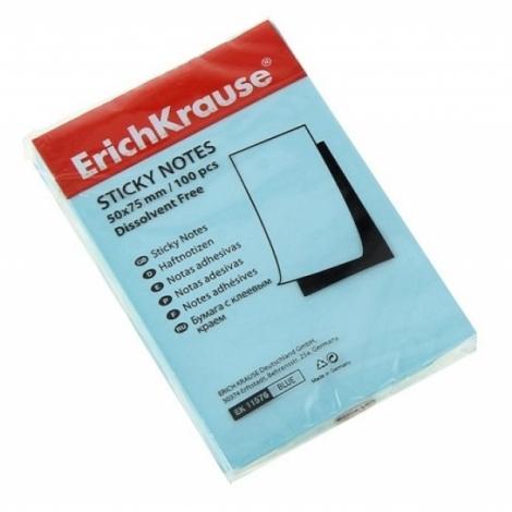 бумага с клеевым краем Erich Krause 50х75мм голубая