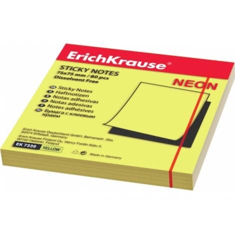 бумага с клеевым краем Erich Krause 75х75мм желтый