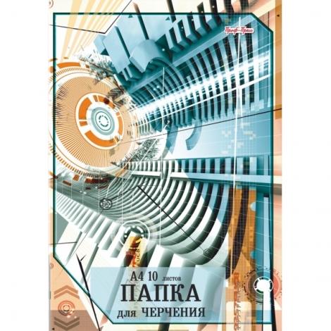ПАПКА ДЛЯ ЧЕРЧЕНИЯ А4 (арт. 102532) цв.обл., с вертик.рамкой