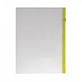 Папка на молнии А4, 120мкм, прозрачная