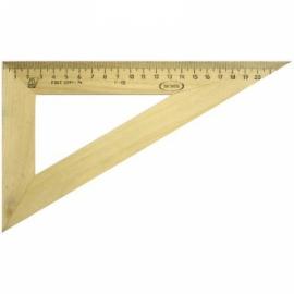 Треугольник 30°, 23см, дерево
