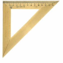 Треугольник 45°, 16см, дерево