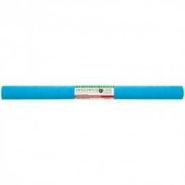 Бумага крепированная 50*250 см, 32 г/м2, голубая, в рулоне