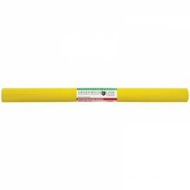 Бумага крепированная 50*250 см, 32 г/м2, жёлтая, в рулоне