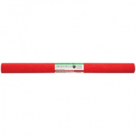 Бумага крепированная 50*250 см, 32 г/м2, красная, в рулоне