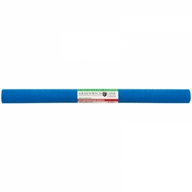 Бумага крепированная 50*250 см, 32 г/м2, синяя, в рулоне