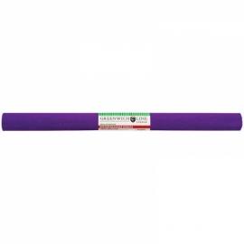 Бумага крепированная 50*250 см, 32 г/м2, фиолетовая, в рулоне