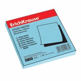 бумага с клеевым краем Erich Krause 75х75мм голубой