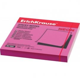 бумага с клеевым краем Erich Krause 75х75мм розовый