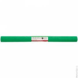 Бумага крепированная 50*250 см, 32 г/м2, зелёная, в рулоне