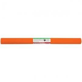 Бумага крепированная 50*250 см, 32 г/м2, оранжевая, в рулоне